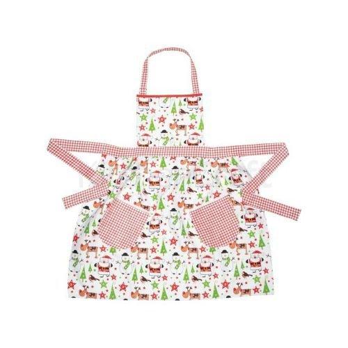 Kitchen Craft Santa & Friends Fitted Ladies Apron – Cotton 83 x 84 cm (パックof 4 )   B01NBQYR4H