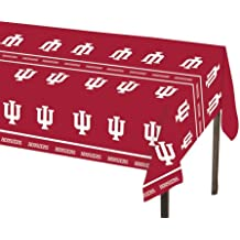 Creative Converting Indiana University Plastic Table Cover, 54 by 108-Inch