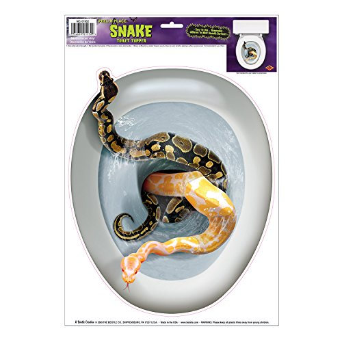 Snake Toilet Topper Peel 'N Place Party Accessory