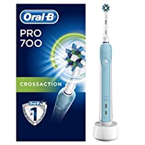Oral-B PRO 700 CrossAction - Cepillo de dientes eléctrico recargable con tecnología Braun