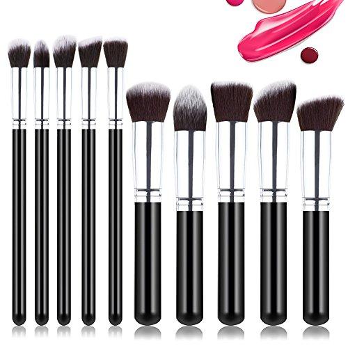 Easy Blending Mousse - Tosun Makeup Brushes 10 PCS Makeup Brush Set Premium Foundation Brush Blending Face Blush Contour Concealers Eyeshadows Make Up Brush Kit (Silver)