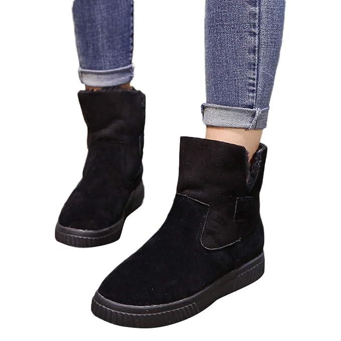 MYMYG Botas de Nieve Botines Zapatos Mujeres Totalmente Alineada Botas Piel Impermeable de la Nieve Hombres Botines Black Friday Calentar Forrado Botas: ...