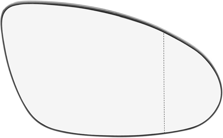 X AUTOHAUX Mirror Glass Heated with Backing Plate Passenger Side Right Side Rear View Mirror Glass for Mercedes-Benz CL550