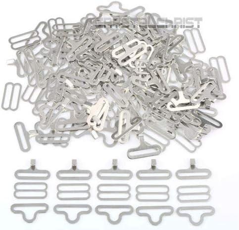 50PCs//Set Bow Tie Clip Hardware Cravat Clips Hook Fastener For Necktie Strap