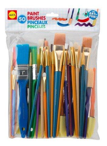 Alex Brands 0A245C Artist Studio Paint Brushes44; Set of 50 by ALEX Brands