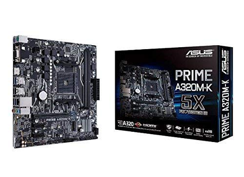 ASUS PRIME A320M-K AMD Ryzen AM4 DDR4 HDMI VGA M.2 USB 3.1 Micro-ATX Motherboard (Certified Refurbished)
