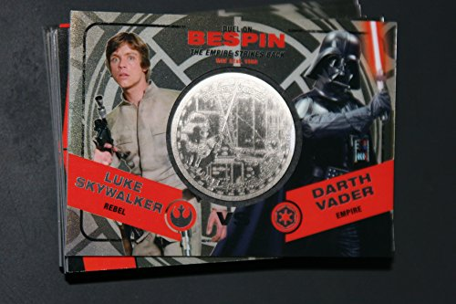 2015 Star Wars Chrome Perspectives Jedi vs. Sith Trading Cards Silver Medallion Luke Skywalker vs. Darth Vader BESPIN Fight Poster Version