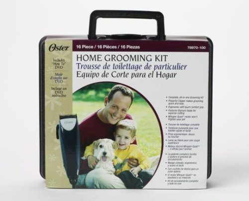 Oster Home Pet Grooming Kit, 16-Piece Deluxe
