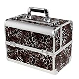 SunniMix Professional Aluminum Makeup Train Jewelry Storage Carry Box Cosmetic Lockable Case Nail Art Tattoo Tools Organizer for Salon Dresser - #8