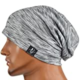 JESSE · RENA Chic Striped Thin Baggy Slouch Summer Beanie Skull Cap Hat (Pale)