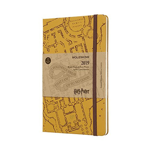 Moleskine Limited Edition Harry Potter Hard Cover 2019 12 Month Weekly Planner, Large (5