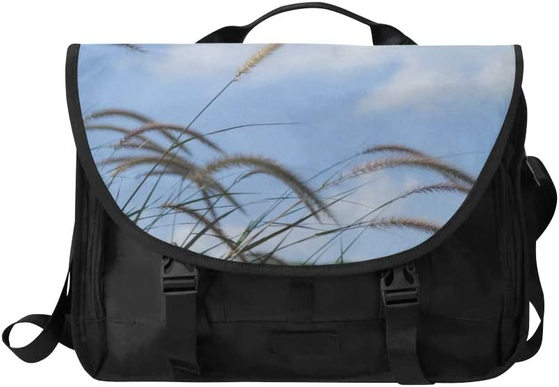 Laptop Briefcases for Men Beautiful Meadow Bristle-Grass Multi-Functional Laptop Briefcases for Women Fit for 15 Inch Computer Notebook MacBook