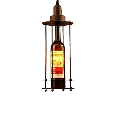 KMYX Vintage Industrial Lámpara Colgante Loft Retro Botella ...
