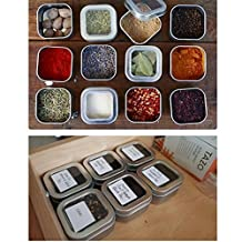 Empty 6 pcs Tins Box , 6.5 oz ,for Seasoning Tea Candy Cookie Cake Jewelry Gift Box, Clear Top Cover & Matter Silver Color