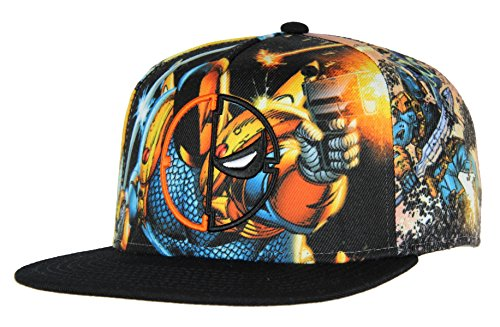 e975ac0d48f DC Comics Deathstroke Allover Sublimation Snapback Hat - Buy Online in UAE.
