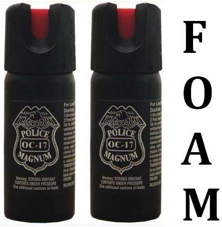 2-TWO-2oz-2-Ounce-Expanding-Foam-Pepper-Spray-Police-Strength