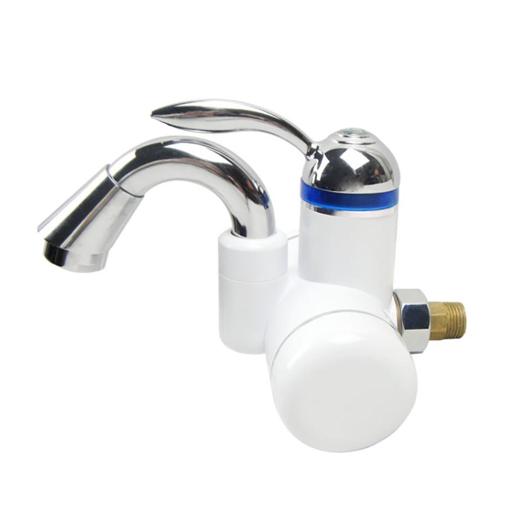 LIU-220V Calentador de agua caliente instantáneo sin tanque Calentador de agua eléctrico Cocina de grifo y el uso del inodoro doble Goteo de agua caliente ...