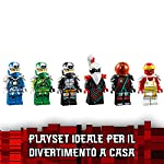 LEGO-Ninjago-Il-Tempio-della-Follia-Imperiale-con-Trappole-e-Tranelli-6-Minifigure-Digi-Jay-e-Digi-Cole-e-il-Malvagio-Sovrano-di-Prime-Empire-Unagami-Set-di-Costruzioni-per-Bambini-9-Anni-71712
