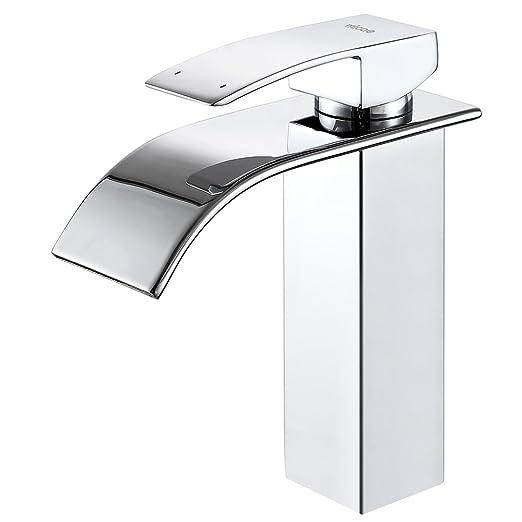 Micoe grifo lavabo baño mezclador cascada acero inoxidable ...