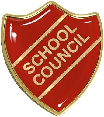 Capricornone 10x School Council Gel Domed School Shield Badges