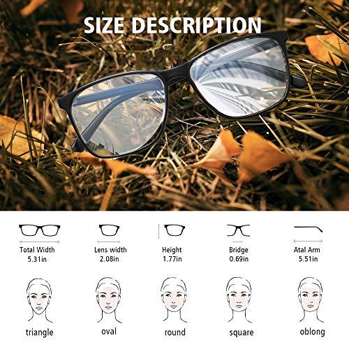 Blue Light Blocking Glasses Women/Men, PengSer Fashion Lightweight Frame Computer Eye Glasses Anti Eyestrain & UV Glare…