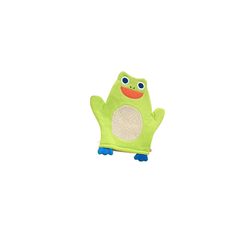 Vektenxi Baby Bath Glove Soft Plush Bath Towel Wash Mitt for Baby Toddler Animal Shape Cartoon Frog Durable and Useful