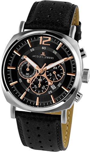 Jacques Lemans Lugano 1-1645J Mens Chronograph Classic & Simple