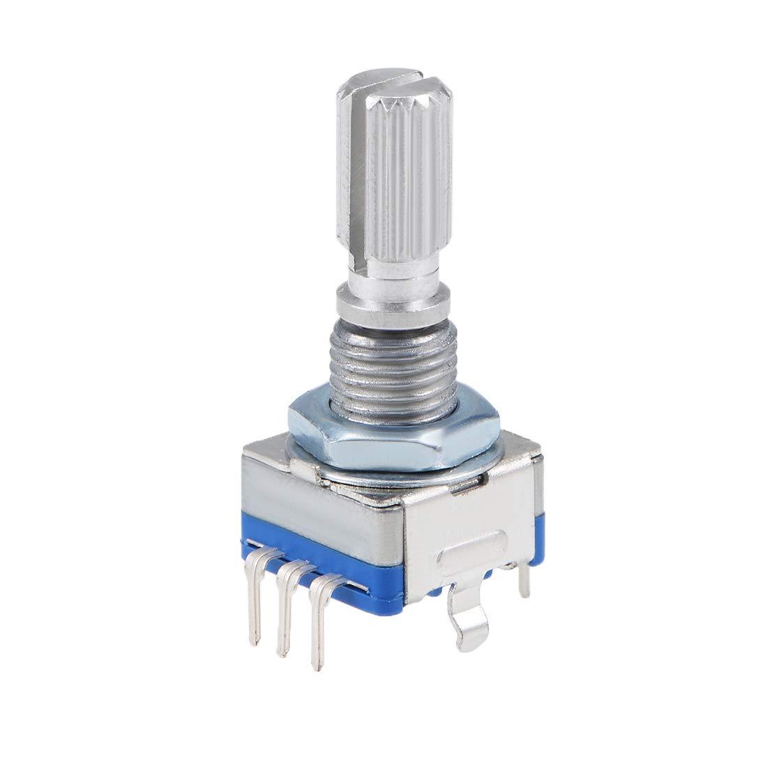 sourcing map 360 Degree Rotary Encoder Code Switch Digital Potentiometer EC11 7 Pins 20mm 5pcs