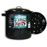Granite Ware Seafood/Tamale Steamer with Insert, 15.5 Quart, Black