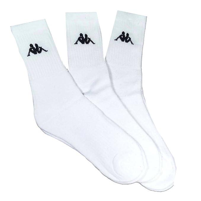 Kappa - Calcetines de deporte - para hombre, color Blanco, talla 43-46: Amazon.es: Ropa y accesorios