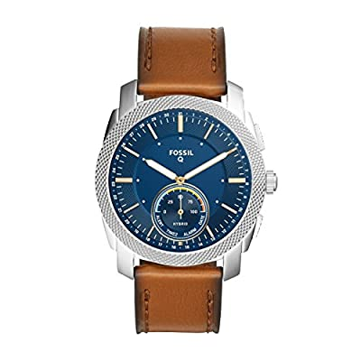 Fossil Q Men's Machine Brown Leather Hybrid Smartwatch FTW1162 by Fossil Connected Watches Child Code