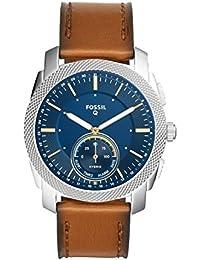 Q Men's Machine Brown Leather Hybrid Smartwatch FTW1162