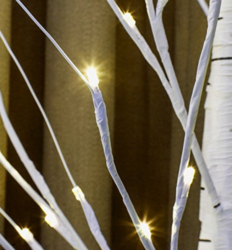 Twinkle Star Lighted Birch Tree 6 Feet 72 LED for Home Wedding Festival Party Christmas Decoration (Birch Tree)