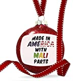 Christmas Decoration Made in America with Parts from Mali Ornament