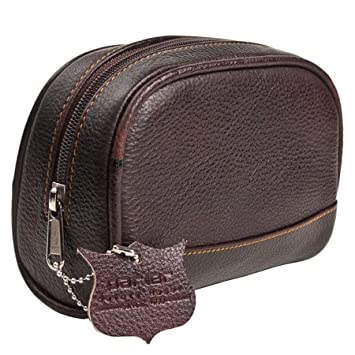 ad45b0e10e9f Image Unavailable. Image not available for. Color  Deluxe Leather SMALL Toiletry  Bag (Dopp Kit) from Parker Safety Razor
