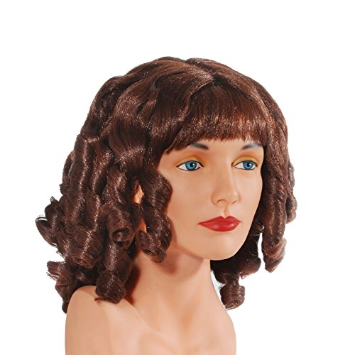 Loftus International Adult Star Power Goldilocks Curly Costume Wig, Brown, One Size -