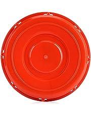 Zerodis Tapa del Tanque IBC, Tapa de la Cubierta del Accesorio del totalizador de IBC para el Almacenamiento del líquido del Agua, plástico Rojo 163m m