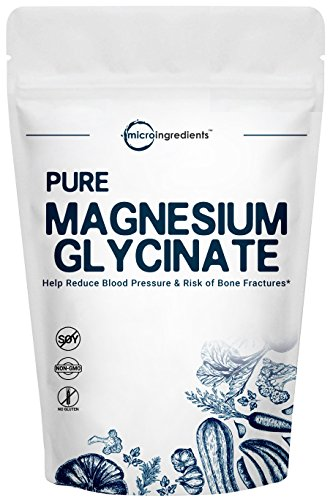 US Origin Pure Magnesium Glycinate Powder, 250g, Powerfully Promotes Bone Health, Cardiovascular Health and Muscle Maintenance, Non-GMO and Vegan Friendly