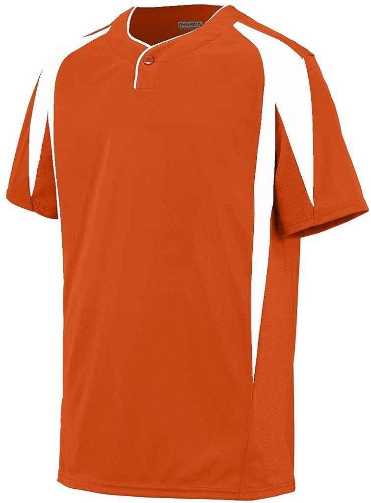 Augusta Sportswear Boys 'フライボール野球ジャージー B00P53T0UI Small|Orange/White Orange/White Small