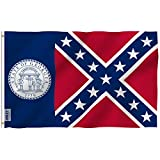 Anley Fly Breeze 3x5 Foot Old Georgia State Polyester Flag - Vivid Color and UV Fade Resistant - Canvas Header and Double Stitched - Georgia 1956-2001 Flags with Brass Grommets 3 X 5 Ft