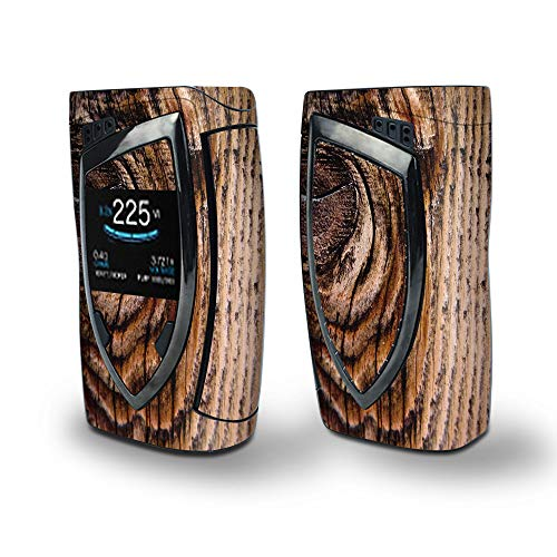 (Skin Decal Vinyl Wrap Smok Devilkin Kit 225w (Includes TFV12 Prince Tank Skins) Vape Skins Stickers Cover/Wood Panel Mahogany Knot Solid)