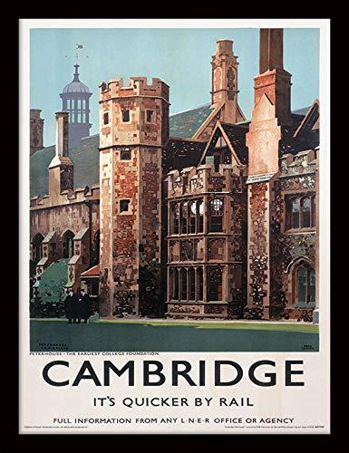 42 x 32 x 2.4 cm MDF Multi-Colour National Railway Museum Cambridge-Peterhouse Framed 30 x 40cm Print