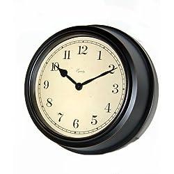 Equity by La Crosse 87389 10 Inch Deep Dish Metal Analog Clock