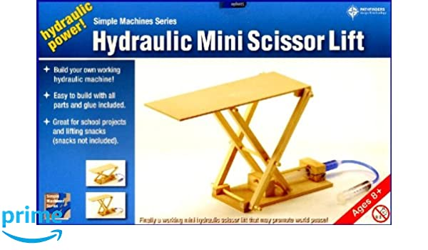 Amazon com: Pathfinders Hydraulic Mini Scissor Lift Wooden