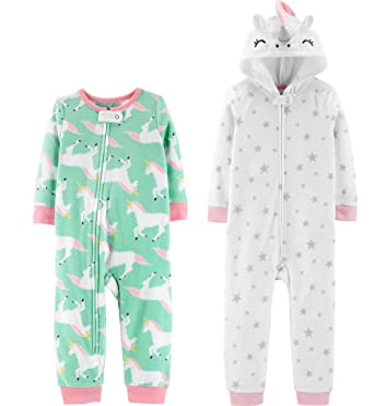 db0a51e1f838 Amazon.com  Carter s Baby Girls  Unicorn 1-Piece Pajamas - Set of 2 ...