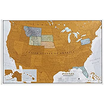 Watercolor United States of America Scratch Off Map Deluxe Edition ...