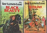Great Illustrated Classics - Set Of 8 Classic Books - Alice In Wonderland - Peter Pan- The House Of The Seven Gables - Heidi - Black Beauty - The Wizard Of Oz - Little Women - Pollyanna.