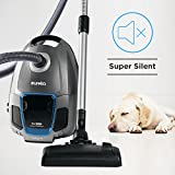 EUREKA S600 SilentClean Cylinder Cleaner, Elite Powerful Compact Washable Hepa Filter Vacuum with Cord, 700W LED Display, 3.5L