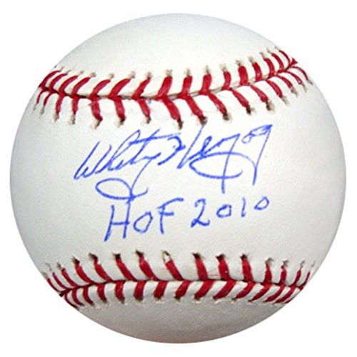 "WHITEY HERZOG AUTOGRAPHED OFFICIAL MLB BASEBALL ST. LOUIS CARDINALS ""HOF 2010"" PSA/DNA STOCK #17479 from HOF"