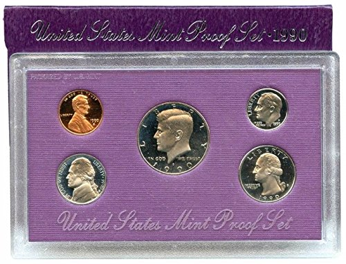 1990 S US 5 Piece set Proof In original packaging from US mint Proof